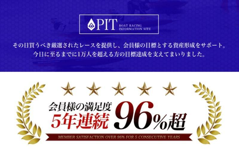 PITの嘘その1「5年間会員満足度96%」