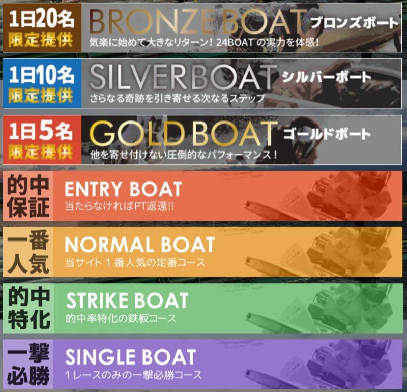 24ボートの料金プラン
